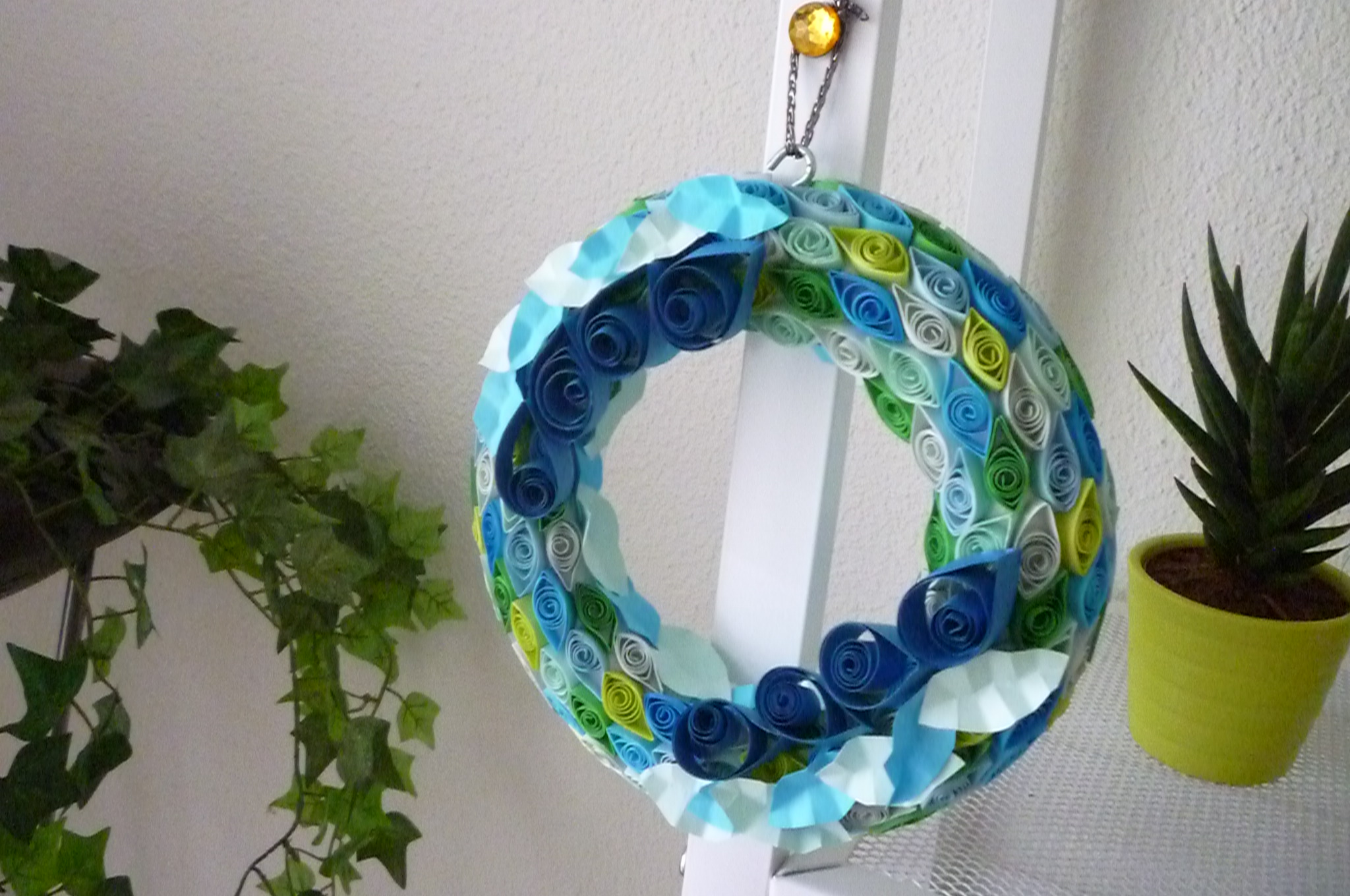 Handmade Wreath Of Paper Quilling In Fresh Color Blue By ByAzalea  Http://etsy.me/1w2Ljw5 Via @Etsy